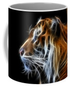 Tiger Fractal Coffee Mug by Shane Bechler