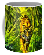 Tiger In The Forest Coffee Mug