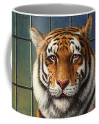 Tiger In Trouble Coffee Mug by James W Johnson