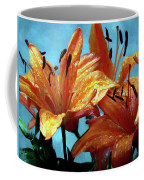 Tiger Lilies After The Rain - Painted Coffee Mug