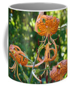 Tiger Lilies Art Prints Canvas Summer Tiger Lily Flowers Coffee Mug