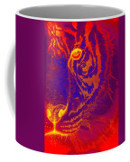 Tiger On Fire Coffee Mug