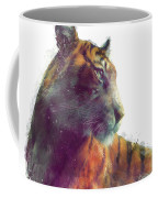 Tiger // Solace - White Background Coffee Mug by Amy Hamilton