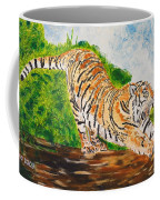 Tiger Stretching Coffee Mug