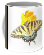 Tiger Swallowtail Butterfly, Cosmos Flower Coffee Mug