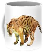 Tiger White Background Coffee Mug
