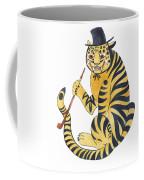 Tiger With Pipe Coffee Mug