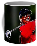 Tiger Woods Coffee Mug by Paul Ward