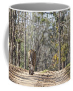 Tigress Walking Along A Track In Sal Forest Pench Tiger Reserve India Coffee Mug