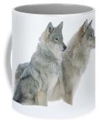 Timber Wolf Portrait Of Pair Sitting Coffee Mug