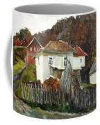 Time For Use The Stove. November In The Serbia. Coffee Mug