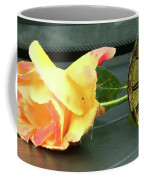 Time To Give A Rose - Yellow And Pink Rose - Clock Face Coffee Mug