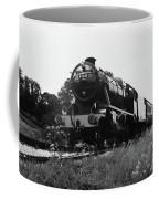 Time Travel By Steam B/w Coffee Mug by Martin Howard