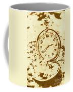 Time Worn Vintage Pocket Watch Coffee Mug