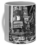 Times Square Black And White Coffee Mug