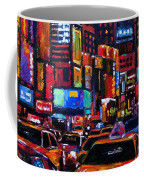 Times Square Coffee Mug by Debra Hurd