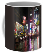 Times Square In The Rain 1 Coffee Mug