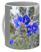 Tiny Blue Floral Coffee Mug