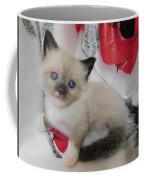 Tiny Micro Version Of Red White And Ragdoll Kitty Kitten Baby Cat Silktapestrykittenstm Coffee Mug