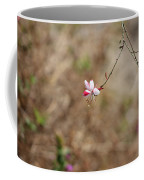 Tiny Red And White Wildflowers Coffee Mug