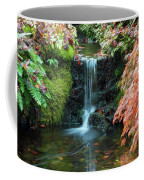 Tiny Waterfall In Japanese  Garden.the Butchart Gardens,victoria.canada. Coffee Mug