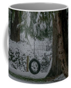 Tire Swing In Winter Coffee Mug