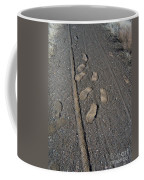 Tire Tracks And Foot Prints Coffee Mug