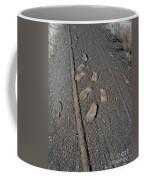 Tire Tracks And Foot Prints Coffee Mug