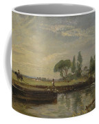 Title Barge Below Flatford Lock Coffee Mug