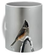 Titmouse In The Snow Coffee Mug