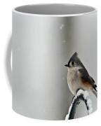 Titmouse On Snowy Arch Coffee Mug
