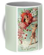 To My Valentine Vintage Romantic Greetings Coffee Mug