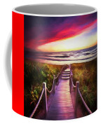 To The Beach Early Morning Watercolor Painting Coffee Mug