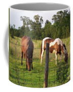 Tobiano And Bay Horses Coffee Mug