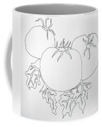 Tomatoes On A Vine In One Line Coffee Mug