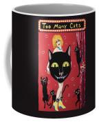 Too Many Black Cats Coffee Mug