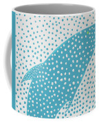 Top Of The Dotted Whale Coffee Mug by Deborah Boyd