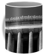 Top Portion Of A Lincoln Memorial Old Greek Architecture Coffee Mug