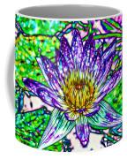 Top View Of A Beautiful Purple Lotus Coffee Mug