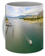 Top View Of English Bay In Summer, Vancouver Bc. Coffee Mug