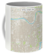 Topeka Kansas Us City Street Map Coffee Mug