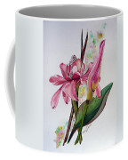 Torch Ginger  Lily Coffee Mug by Karin  Dawn Kelshall- Best