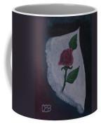 Torn Canvas Rose Coffee Mug