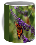 Tortoiseshell Butterfly On Lavender Coffee Mug