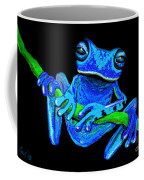 Totally Blue Frog On A Vine Coffee Mug