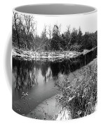 Touch Of Winter Black And White Coffee Mug