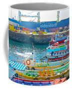 Tour Boats In Port Of Valparaiso-chile Coffee Mug