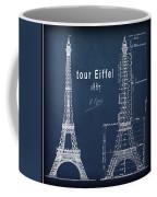 Tour Eiffel Engineering Blueprint Coffee Mug