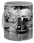 Tourist Boating Thru Tam Coc Bw Coffee Mug
