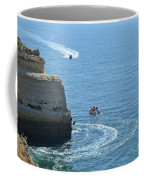 Tourist Boats And Cliffs In Algarve Coffee Mug